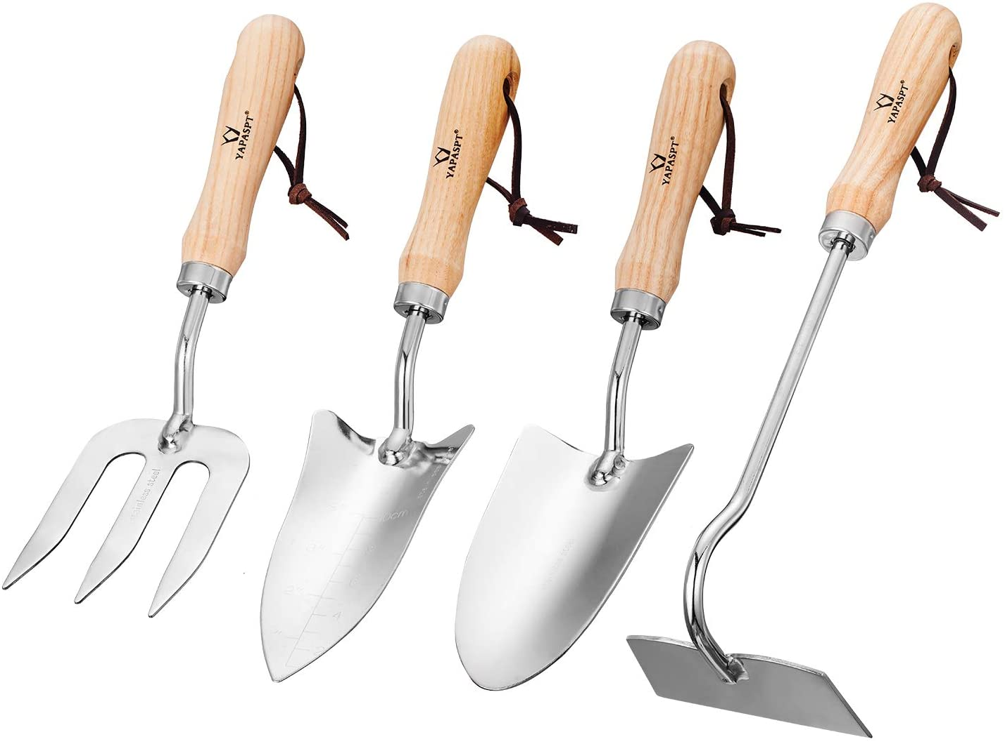 Garden Hand Tool Carbon Steel Set 3 Piece Transplanting Trowel Weed Fork Gift