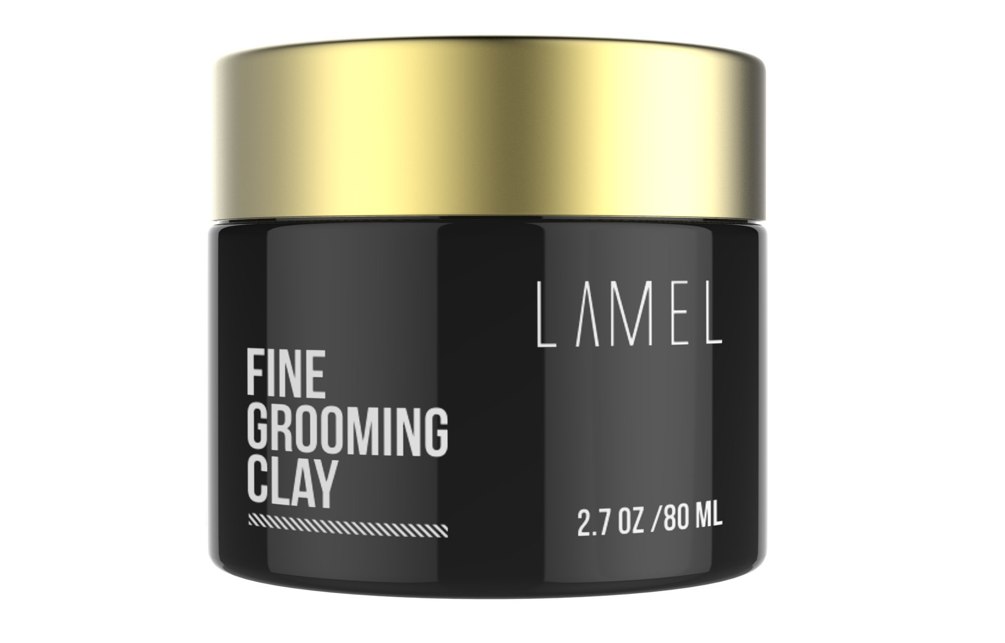 Best Molding Creme for Strong Hold Matte Finish - No Shine Hair Product For Textured Modern Hairstyles - Lamel Styling Clay for All Hair Types 2.7 Ounce by LAMEL