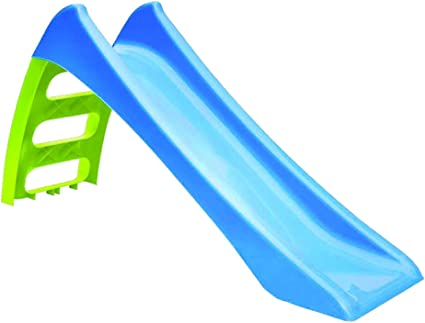 Tobogán 3 peldaños, tobogán de plástico, tobogán con agua cuelgan 116 x 36 x 62,5, tobogán para niños, tobogán infantil Tobogán, Jardín, tobogán estructura de plástico color azul escalera verde.: Amazon.es: Deportes