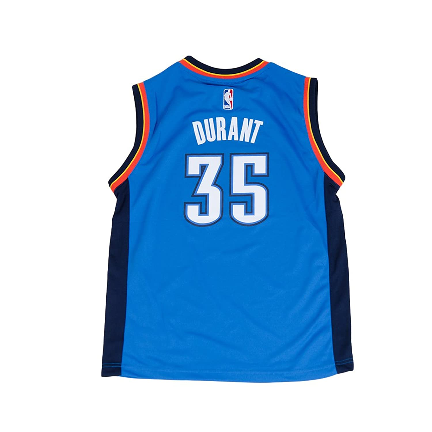 919923bdf Amazon.com  Adidas Oklahoma City Thunder Youth s Replica Road Jersey Durant  Shirt Thunder Strong Blue  Sports   Outdoors