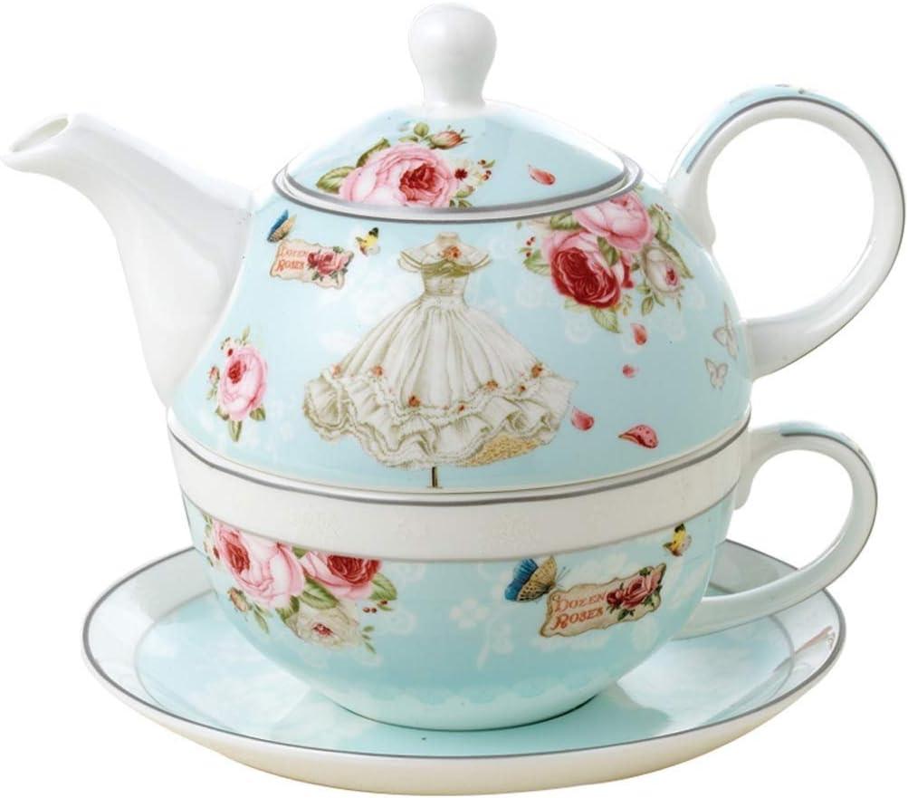 Xiaozou Gran Tetera cafetera de Porcelana Retro Taza de té Juego ...