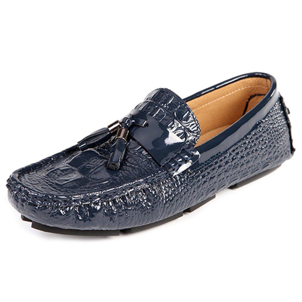MERRYHE Zapatos De Barco Ocasionales Brillantes para Hombres Mocasines De Moda Slip On Moccasins Zapatos De Cubierta Calzado De Conducción,Blue-40 40|Blue