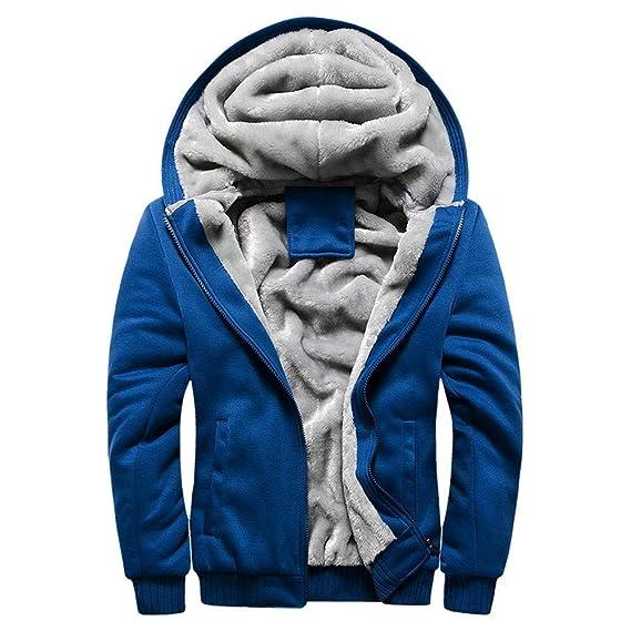 Luckycat Herren Winterjacke Männer Zipper Mantel Fleece Hoodie Mode Wunderschön Winter Herbst Verdickte Kapuzenjacke Freizeit Jacke Oder Stützgerüst