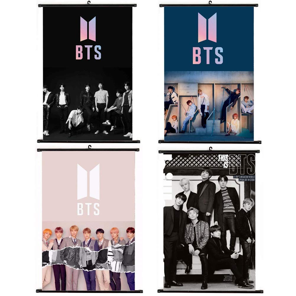 CCUT Kpop BTS Bangtan Boys Wall Scroll Hanging Paintings for A.R.M.Y Style 2