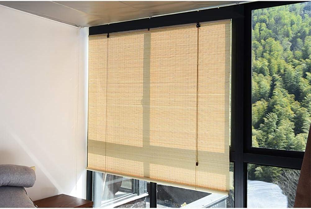 Persiana de bambú Cortina Enrollable Exterior, Natural, Filtro De ...