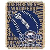 MLB Milwaukee Brewers 48 x 60-Inch Double Play Jacquard Triple Woven Throw