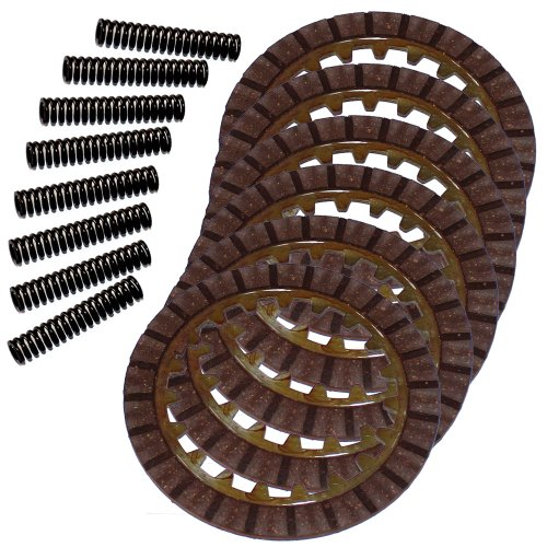 Moto Clutch (Caltric CLUTCH FRICTION PLATES & 8 SPRINGS Fits YAMAHA MOTO-4 80 YFM80 YFM-80 1985-1988)