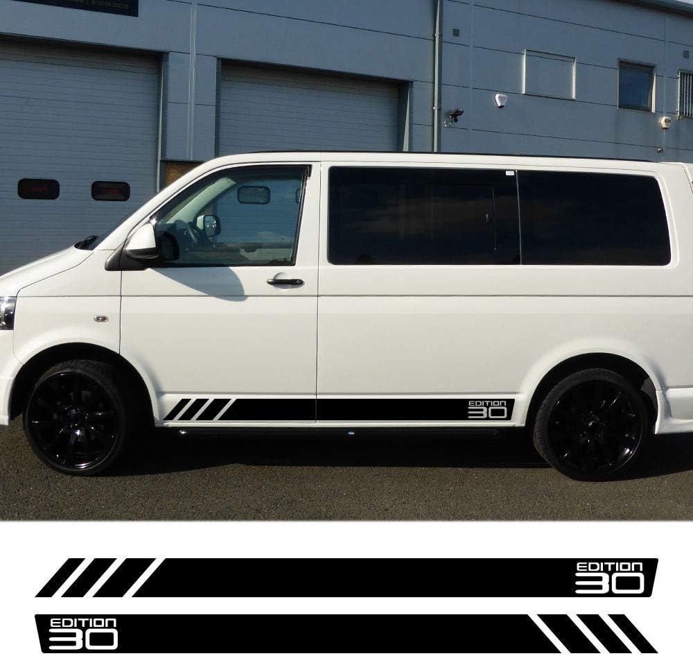 Hllebw Auto Seitenstreifen Seitenaufkleber Aufkleber For Vw Multivan Transporter T4 T5 T6 Sport Freizeit