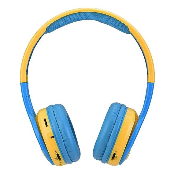 Contixo KB2600 85db Auriculares Inalámbricos Bluetooth Micrófono incorporado para ninos, Reproductor de música con tarjeta Micro SD, Radio FM Estéreo ...