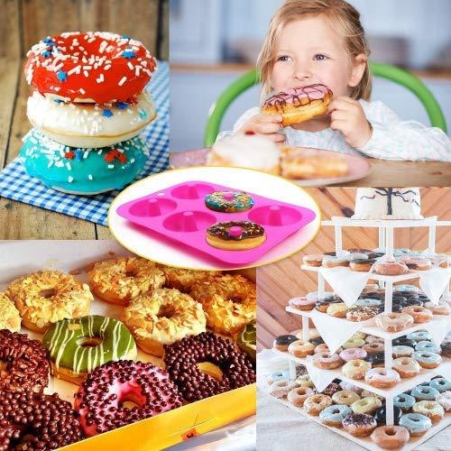 ... Molde de Silicona para Hornear Donut, Antiadherente Molde de Silicona Apto para Lavavajillas, Horno, Microondas, Congelador (Rose Red): Amazon.es: Hogar