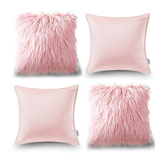 LeiQuanQuan Almohada de Cuatro Piezas de algodón sólido ...
