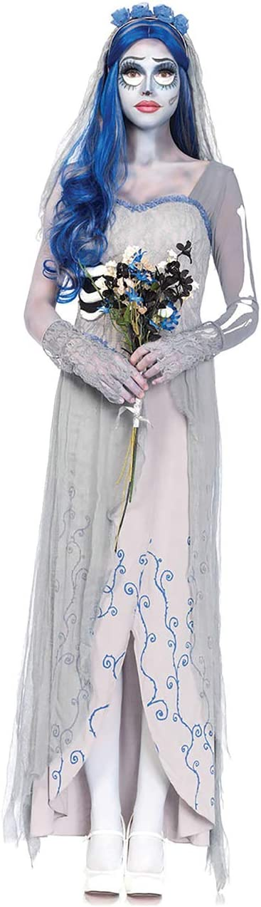ShiyiUP Disfraz de Fantasma Novia Cosplay Costume para Halloween ...