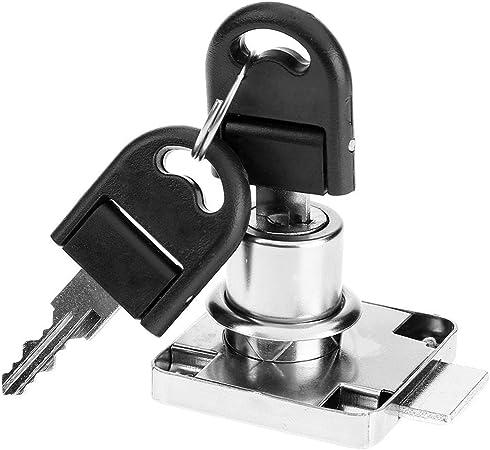 Zinc Alloy Chest Furniture Office Desk Door Drawer Cabinet Cam Lock with 2 Keys