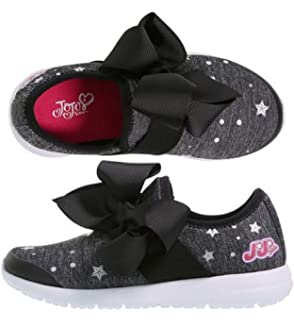 Jojo Siwa Girls Shoe Black Bow Slip On Sneaker Style Shoe Size 13 1 2 3