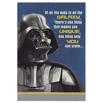Característica Star Wars Tarjeta de cumpleaños para el papá ...