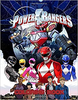 Power Rangers Coloring Book: 30 Illustrations | Ages 3-7 ...