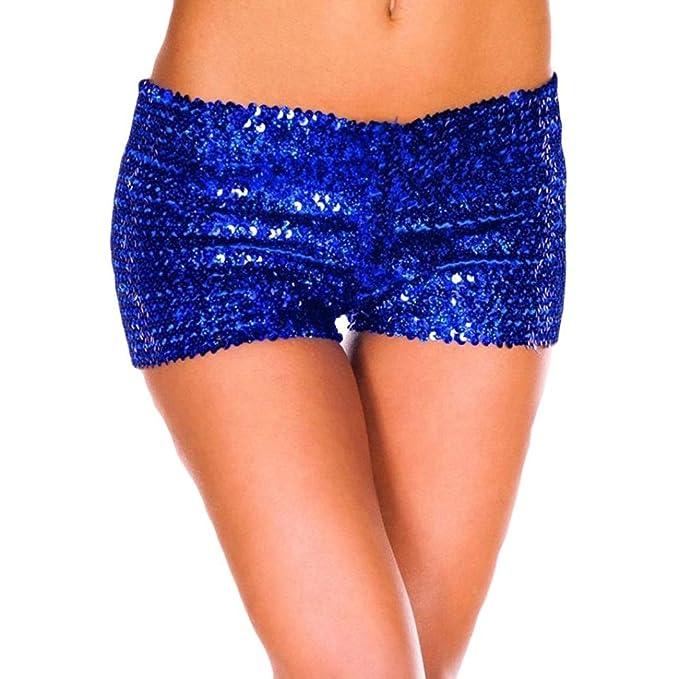 Pailletten Shorts Luckycat Sommerhosen Damen Kurz Mode Frauen Hohe Taille Yoga Shiny Sport Hosen Shorts Metallic Hosen Shorts Hose Sommerhosen Shorts