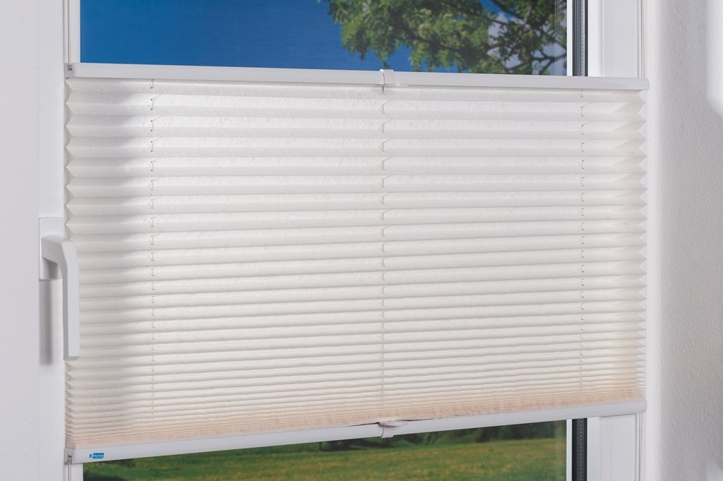K-home Klemmfix-Plissee  80 80 80 x 210 cm (B x L) Grau Lichtschutz +++ Moderne Crushed Optik +++ B07JQPW6TL Plissees a5edce