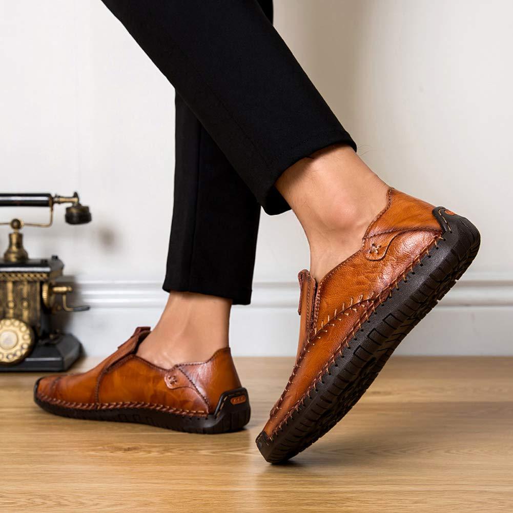 Hombre Cuero Mocasines Ligeros Casuales Conducción Barco Mocasines Zapatos Británicos Caballeros Comercio Trabajo Zapatillas: Amazon.es: Zapatos y ...