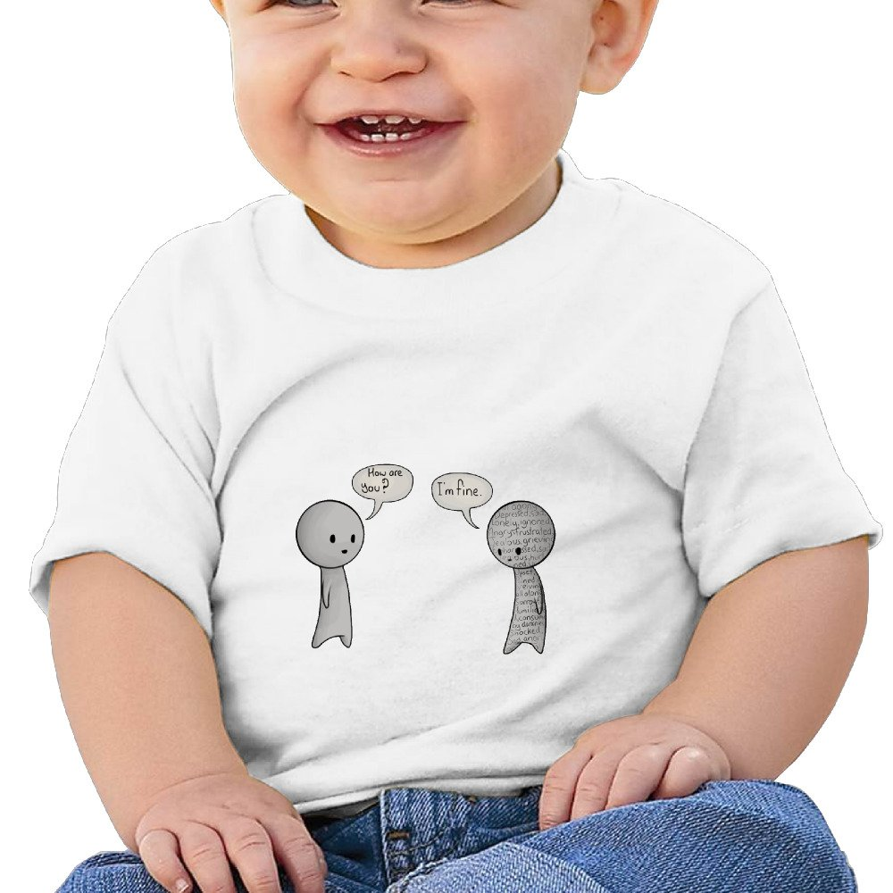 DIMANNU I Am Fine Infants and Toddlers T Shirts Unisex Short Sleeves 6-24 Months