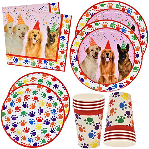(Dog Party Supplies Set 24 9