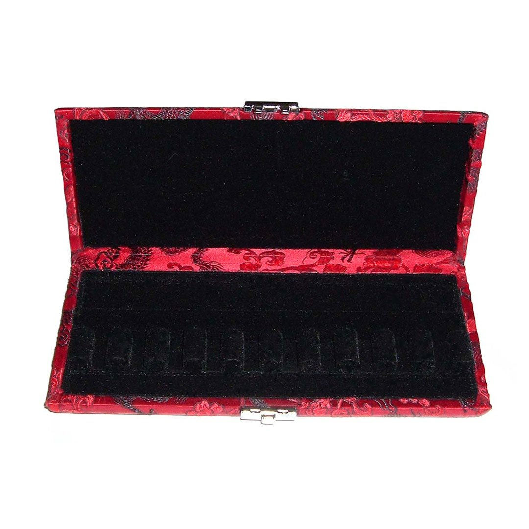 10-reed Bassoon Reed Case Silk - Red with Black Dragon