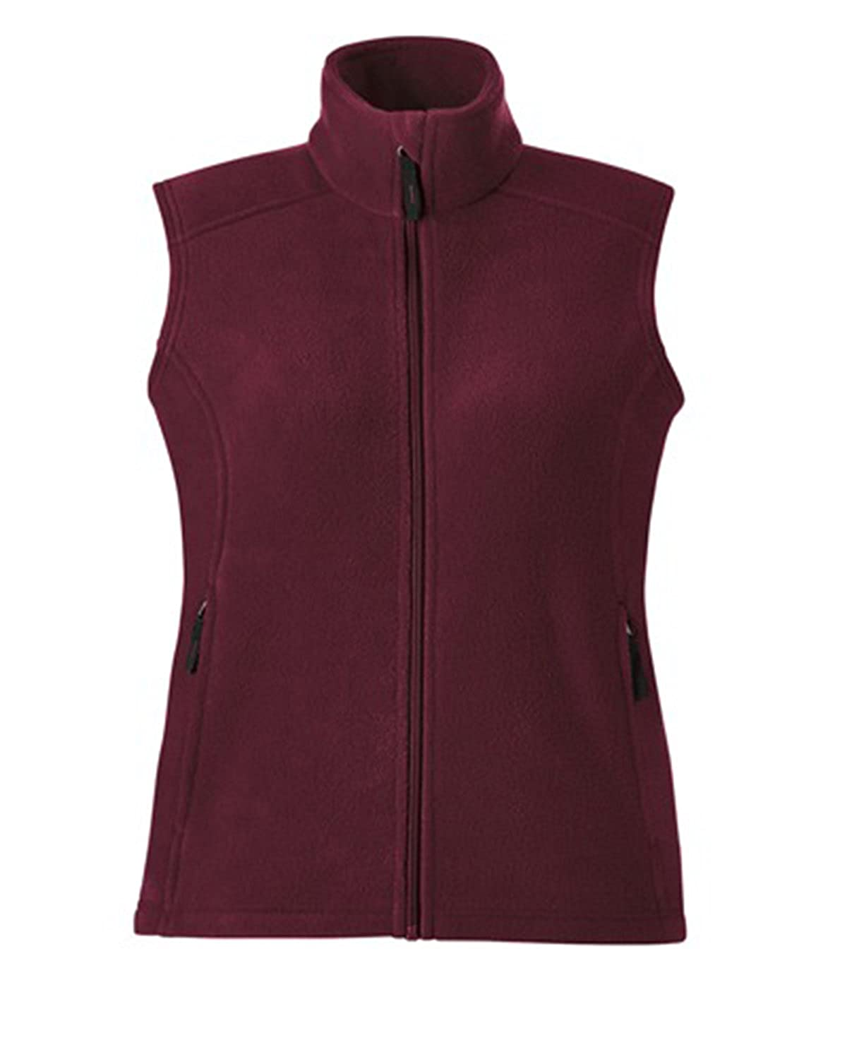 North End Journey Womens Burgundy Sleeveless Fleece Jacket Vest ...