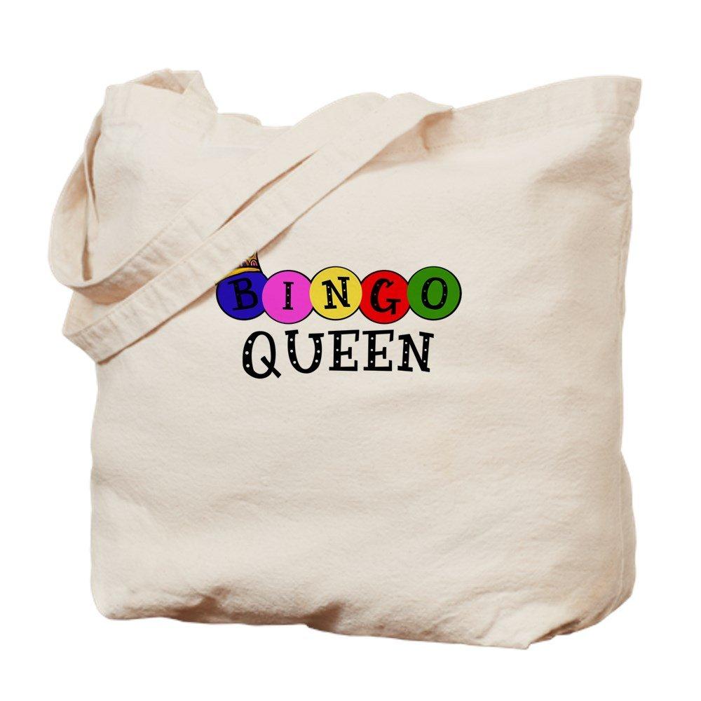 CafePress - Bingo Queen - Natural Canvas Tote Bag, Cloth Shopping Bag by CafePress