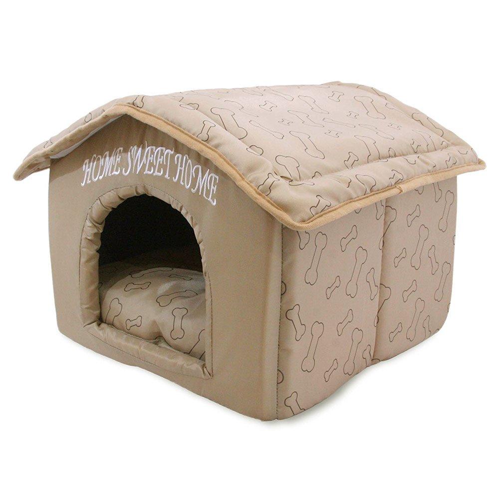Portable Indoor Pet House, Best Supplies, Brown