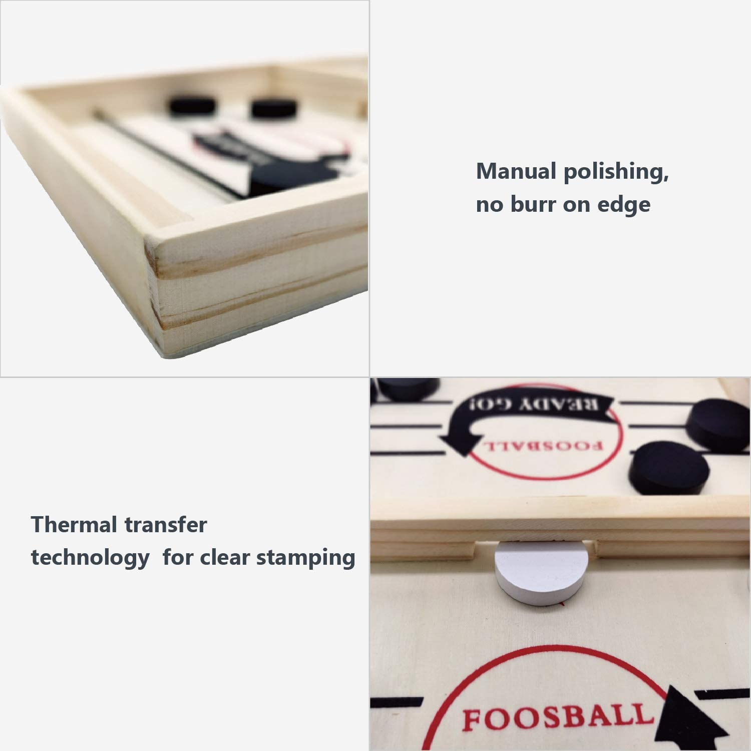 Foosball Slingshot Outdoor Camping Board Games for Family Portable Slingpuck Board Game for Child Toydaze Sling Foosball Fast Sling Puck Game with Extra 10 Pucks /& 2 Slingshots for Spare Use