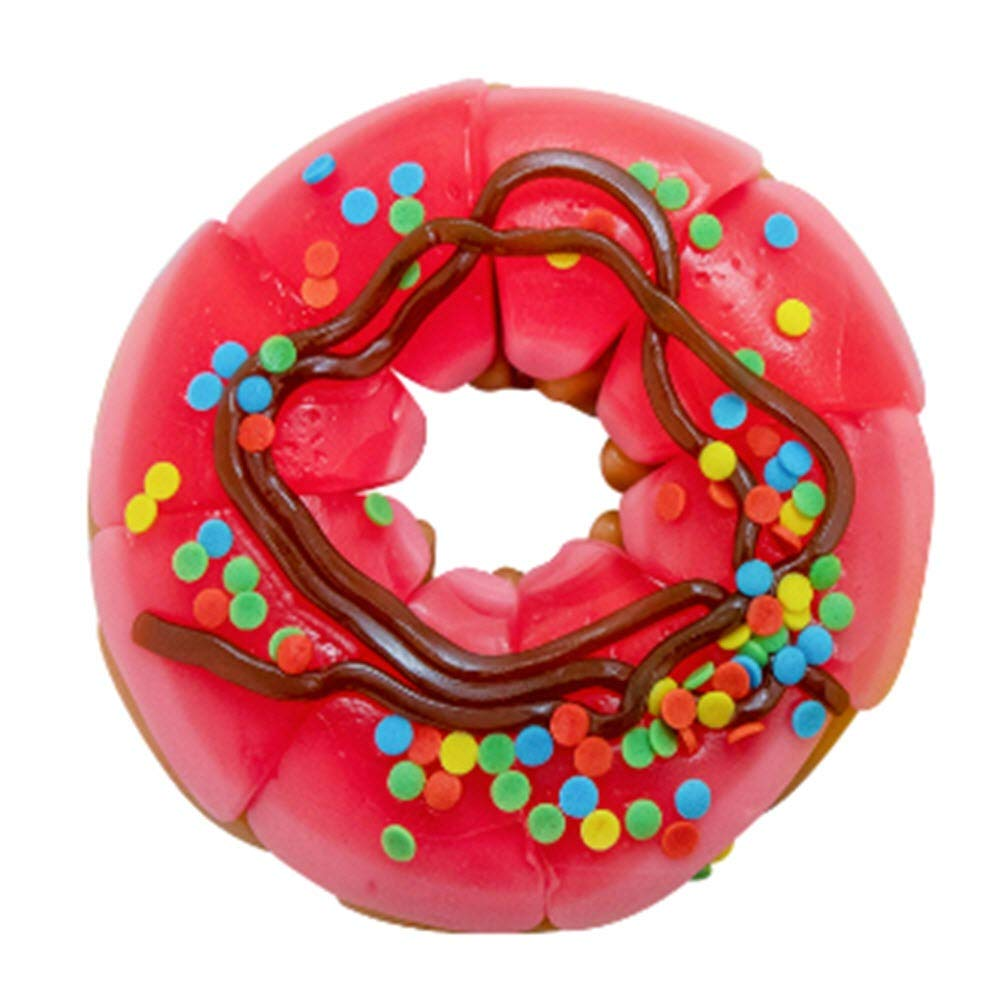 Raindrops Gummy Candy Donut with 15 Gummy Candies and Sprinkles - Yummy Gummy Food that Looks Just Like a Doughnut - 4.6 Ounces of Gummy Frosting, Buns and Ropes - Unique and Edible Gift