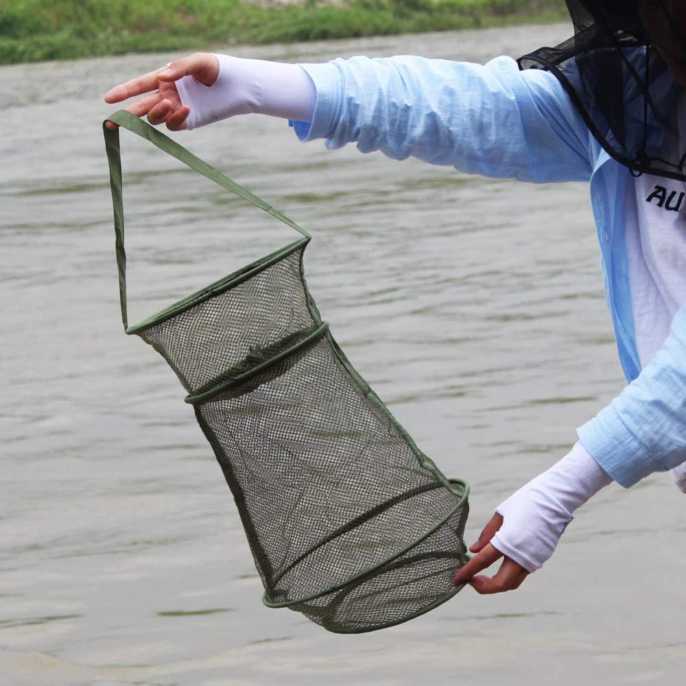 Z/&S Automatic Foldable Crayfish Fishing Bait Crab Net Live Trap Cast Dip Cage Crab Fish Prawn Minnow Crawdad Shrimp Lobster Cast Mesh Trap