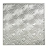 Fasade Easy Installation Cyclone Brushed Aluminum Glue Up Ceiling Tile/Ceiling Panel (2' x 2' Tile)