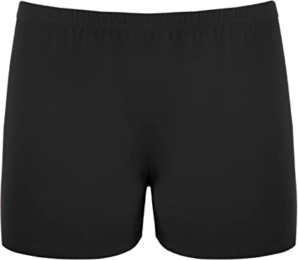 New Ladies Stretch Shorts Womens Hot Pants Sizes 8-14: Amazon.co ...