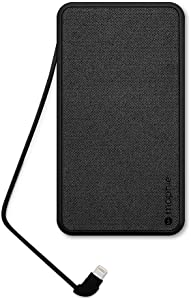 mophie powerstation [Apple MFI Certified] 10,000mAh Portable Charger with Built-in Lightning Cable, External Battery for iPhone 12, 12 Pro, 12 Pro Max, 12 Mini, SE, Xs, Xr, X, 8, 7, 6, iPad, airpods