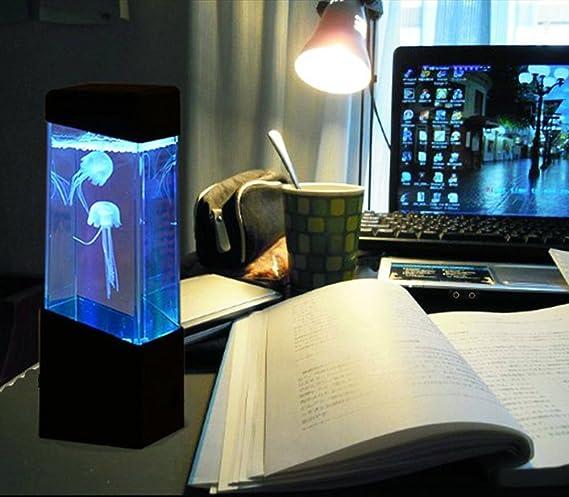 gadgetzone LED Medusa agua Lámpara de Lava Acuario con Colorida CAMBIO LUCES LED RELAJANTE HUMOR Lámpara infantil noche ligero de pilas: Amazon.es: ...