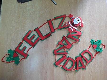 Destello S.L. Cartel Fieltro Feliz Navidad: Amazon.es: Hogar