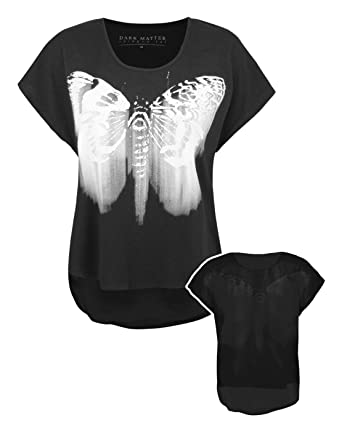 23a65b9c8 Blood Is The New Black Butterfly Haze Women's Sheer Back T-Shirt (XS ...