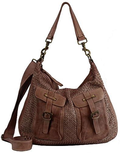 1260b8bacf9e8 BZNA Bag Emma Rose Italy Designer Damen Handtasche Schultertasche Tasche  Schafsleder Shopper Neu