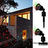 JD Laser Lights Landscape Projector Laser Beams Christmas Holiday Lights Illuminate for Pool Area,Party Hall, DJ Indoor/Outdoor Light Show Use Low Voltage,Dynamic Color Auto ON/OFF