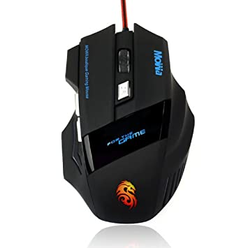 Adjustable DPI 3200 6 Button LED Optical USB Wired Gaming Mouse for Pro Gamer