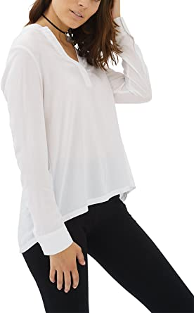 trueprodigy Casual Mujer Marca Blusa Basico Ropa Retro Vintage Rock Vestir Moda Cuello Alto Manga Larga Slim Fit Designer Fashion Top Blouse Camiseta
