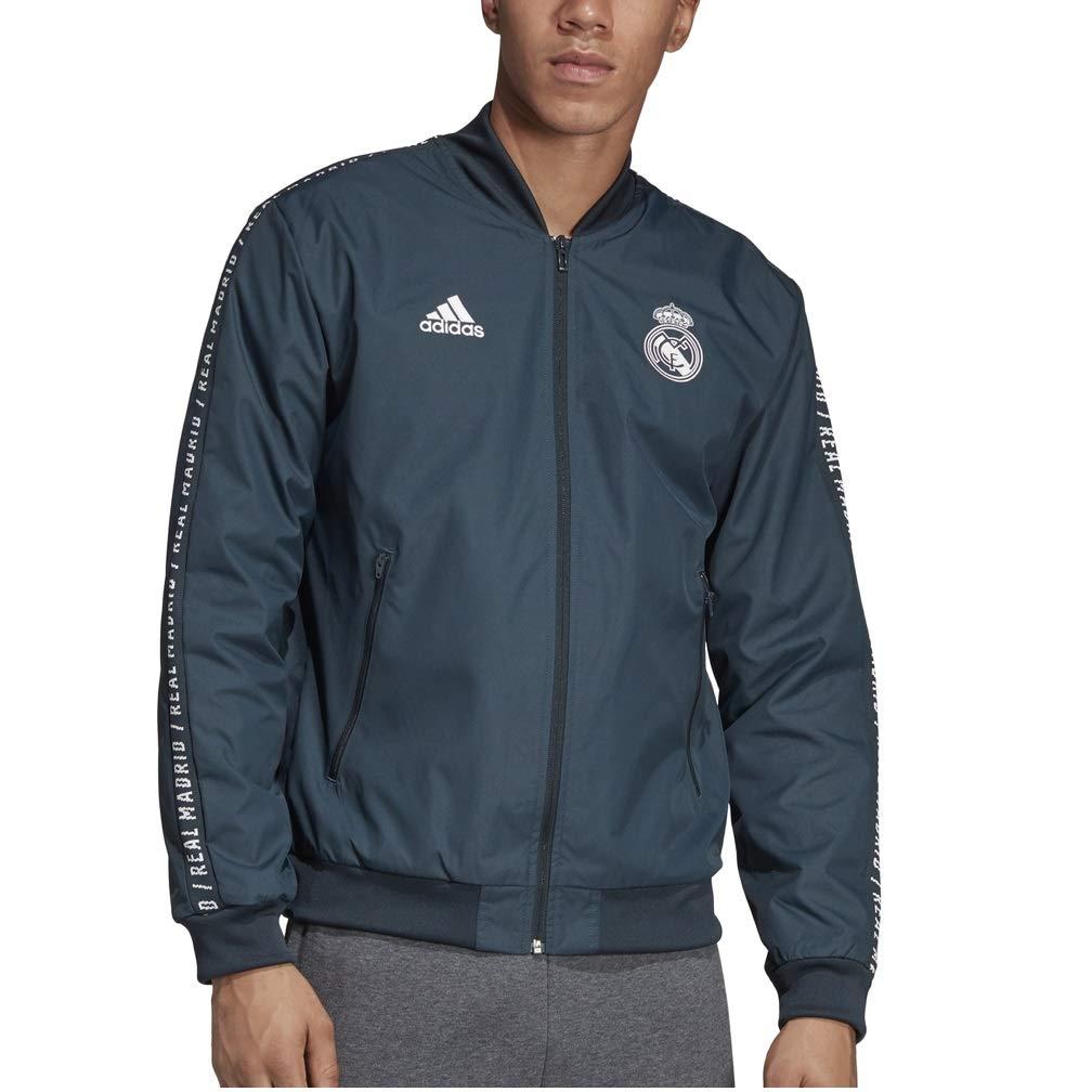 adidas Real Madrid Anthem - Chaqueta: Amazon.es: Deportes y ...