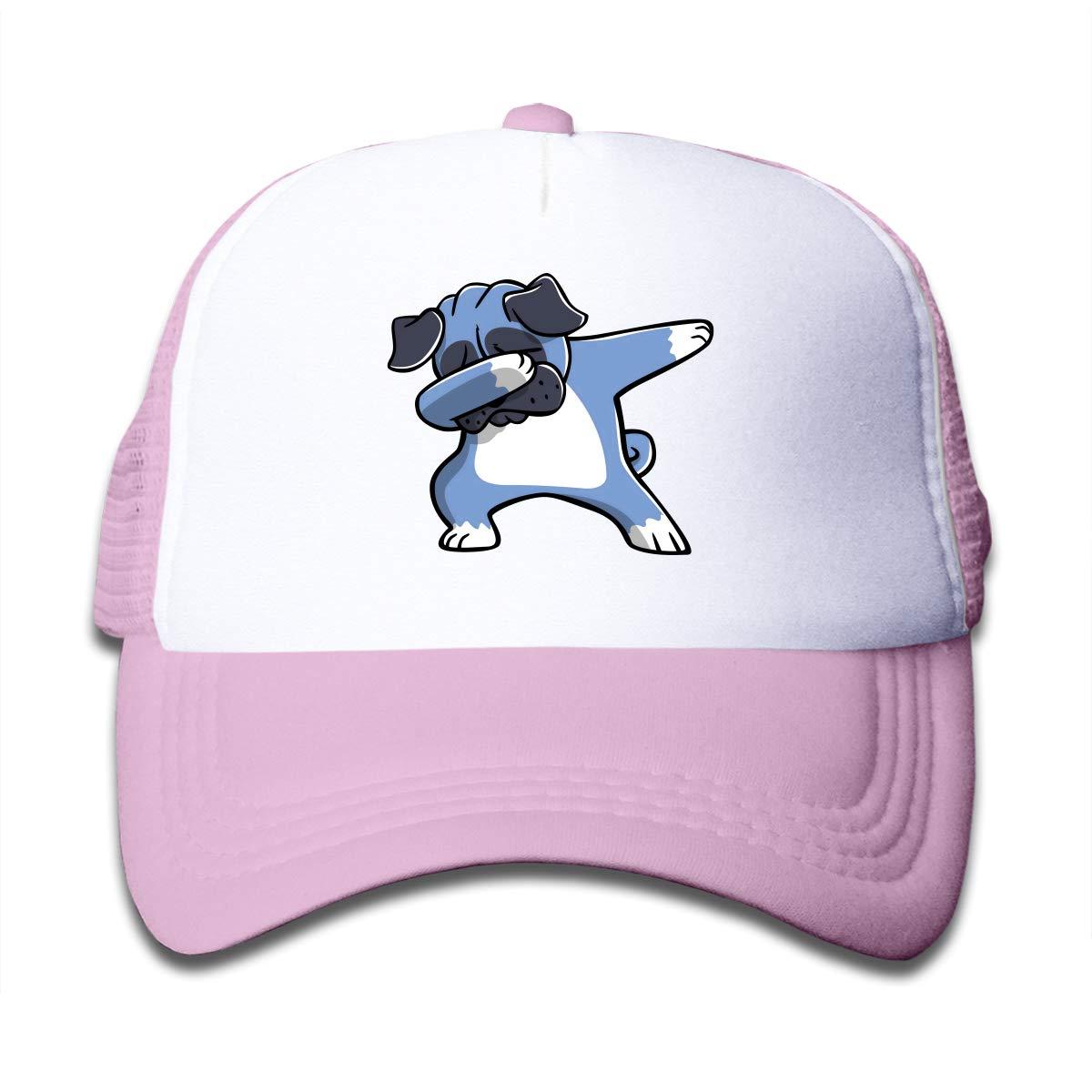 Pug Dabbing Dog Dab Dance Move Kids Baseball Headwear Black