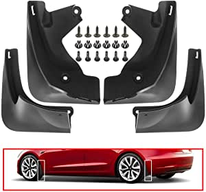 X AUTOHAUX Black Front Rear Mud Flaps Splash Guards for Tesla Model 3 2016-2019