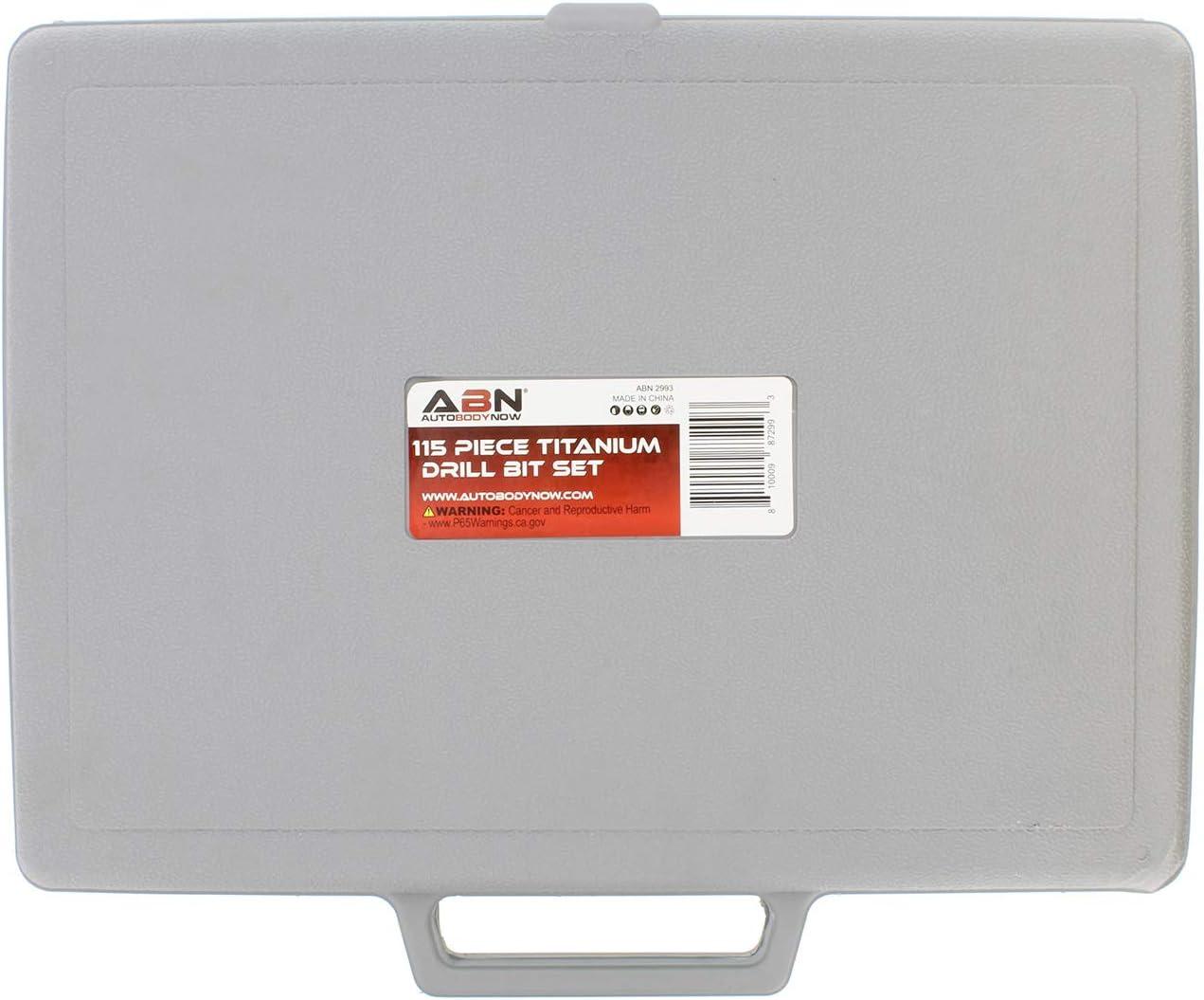 1-60 Sizes ABN Titanium Drill Bits Set Twist Drill Bit for Metal Drill Bits SAE Standard 1//16-1//2 Inch A-Z 115-Piece
