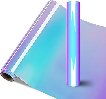 Vinilo adhesivo holográfico – Rollo permanente de vinilo holográfico blanco ópalo de 1,8 m para Cricut y Silhouette Cameo, Maker Explore Aplicado en ...