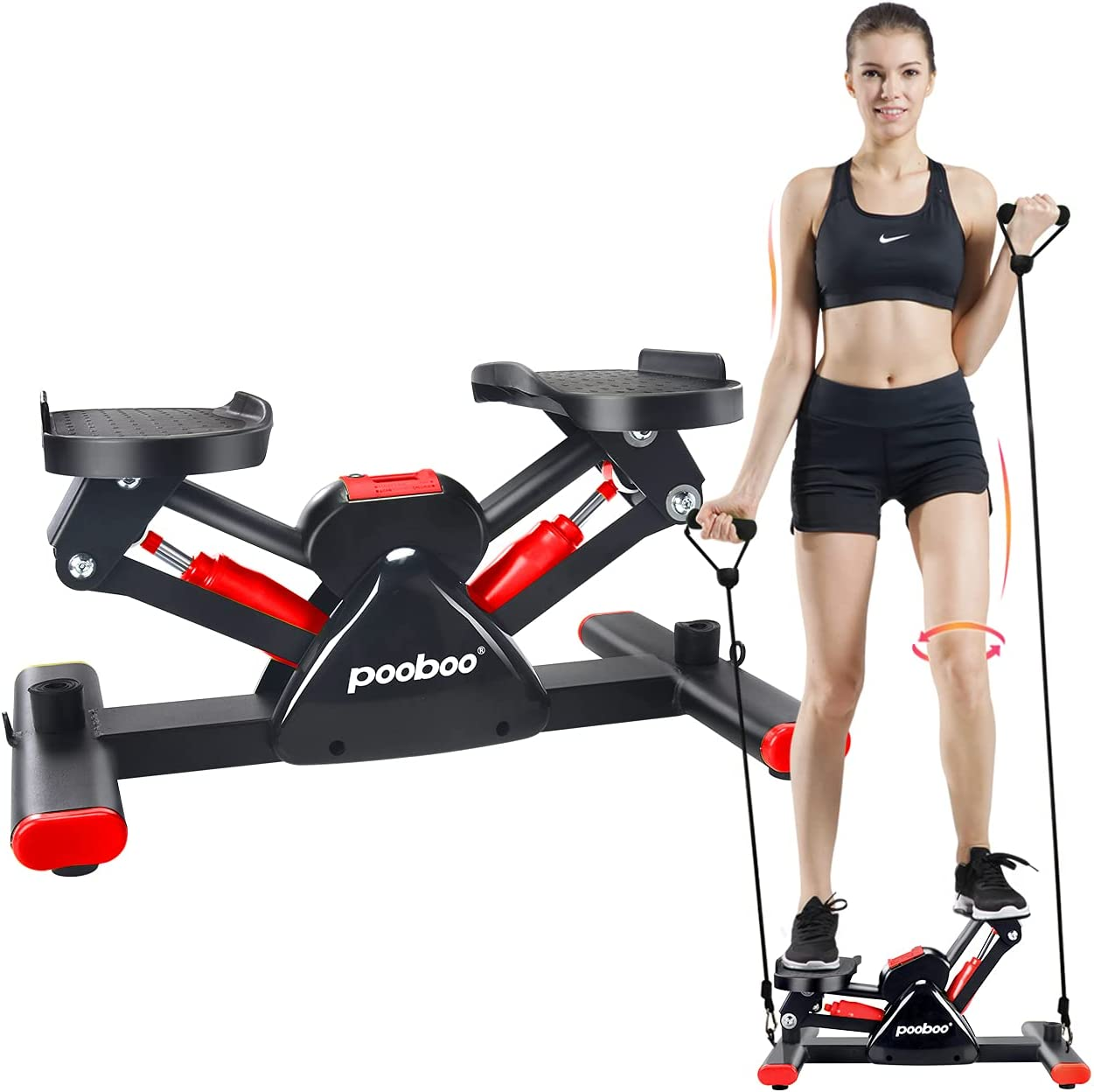 L NOW Adjustable Mini Stair Stepper Exercise Equipment Step Machine
