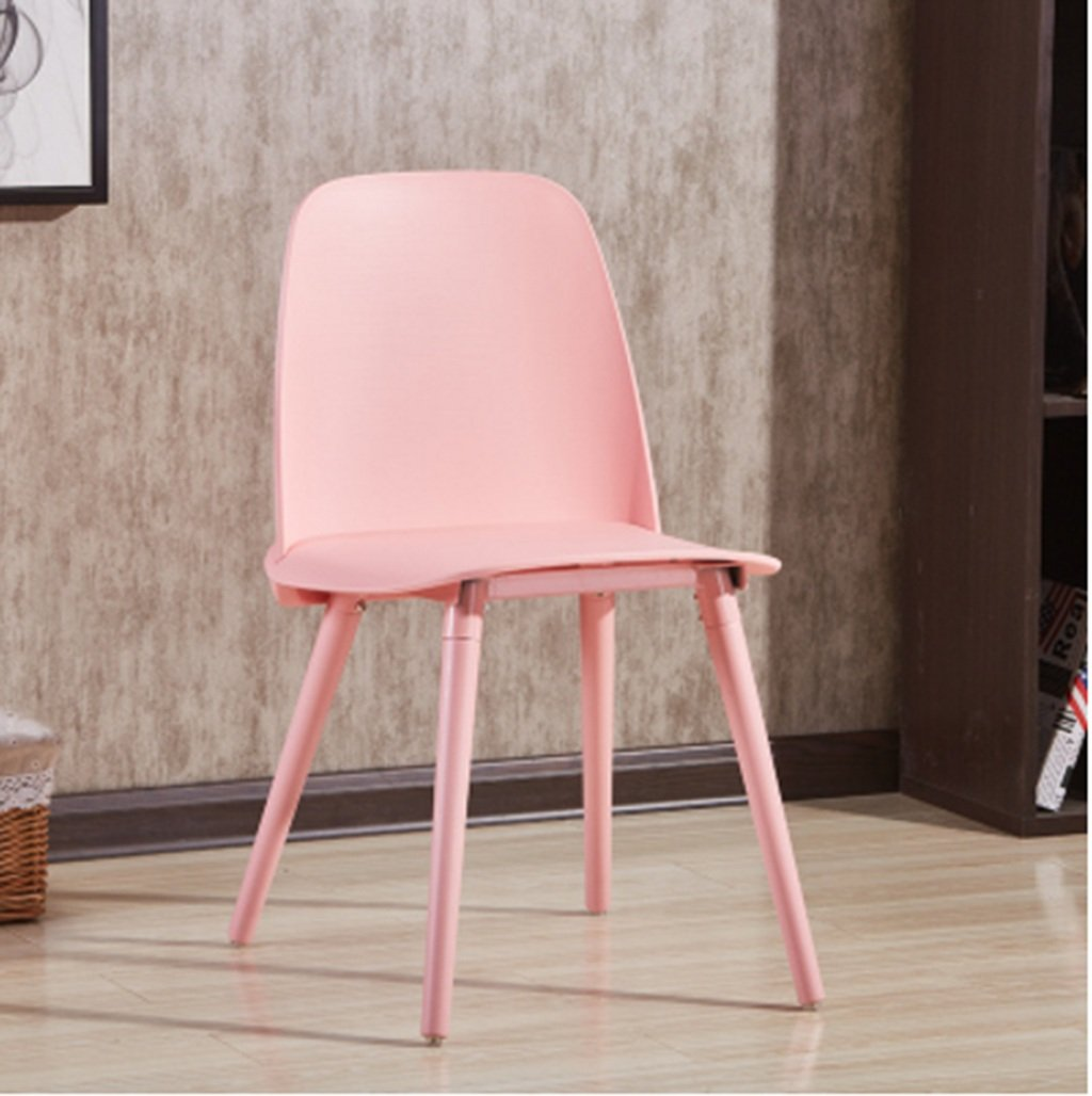 3 ASJHK Chair, Modern Simple Plastic Solid Wood Dining Chair European Office Chair Chair (color    4)