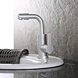 Furesnts Modern home kitchen and Bathroom Sink Taps Space on aluminum pan hot and cold mixed degree rotation Bathroom Sink Taps,(Standard G 1/2 universal hose ports)